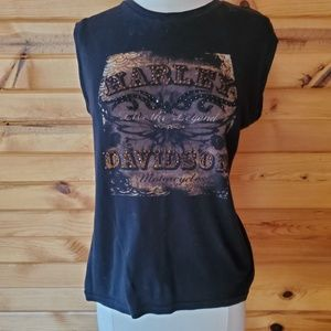 Harley Davidson Madison, WI Black & Sparkly Top